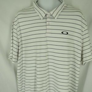 Oakley Mens Size 2XL  White Striped Shirt